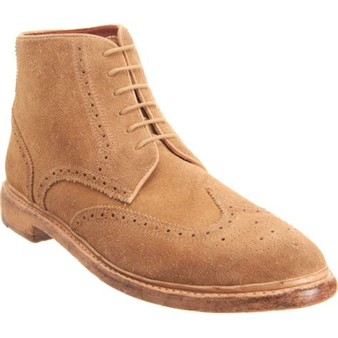 florsheim by duckie brown wingtip ankle boot in brown for