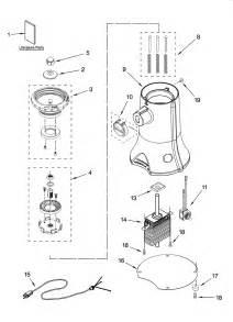 Coffee Grinder Parts Name Kitchenaid Coffee Grinder Parts Model 4kcg200er0 Sears