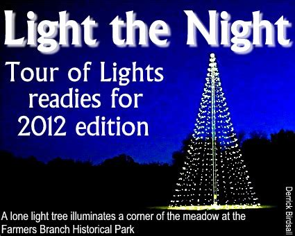 farmers branch tour of lights branch bulletin annual tour of lights opens friday