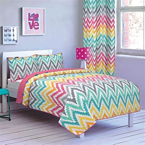 Premium Bedding Sprei 2 all american collection new 2pc printed modern bedspread coverlet set bedspread zig zag
