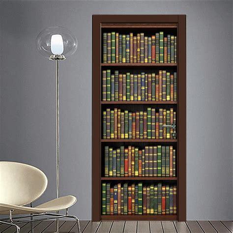 libreria con porta adesivo finta libreria per porta quadriperarredare it