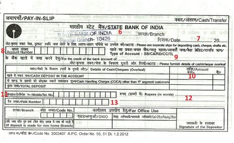 Credit Card Form Of Sbi How To Fill Deposit Form In Sbi Pay In Slip Indians