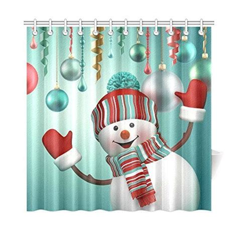 holiday bathroom sets snowman shower curtain sets comfy christmas