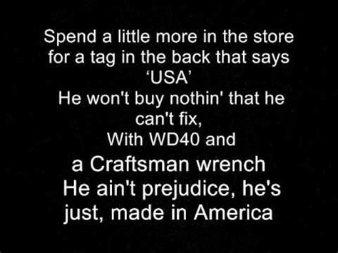toby keith lyrics made in america toby keith lyrics youtube