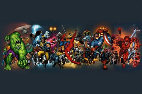 collage of marvel and dc characters hd wallpaper and marvel heroes wallpapers wallpaper cave