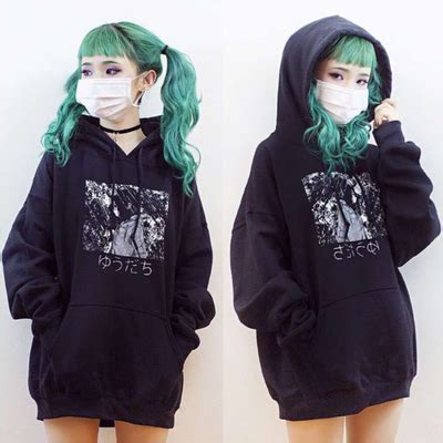 Hoodie Anime In The Streets Zemba Clothing kawaii clothing jerseys sweaters store