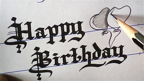Happy Writing how to write happy birthday greeting font