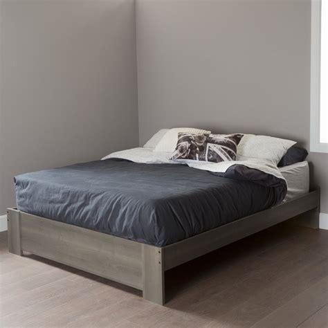 maple platform bed south shore gloria queen platform bed in gray maple 10120