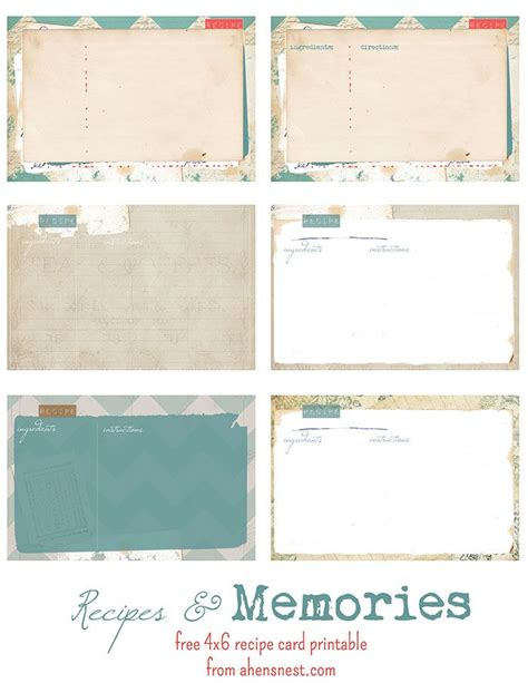 diy printable recipe cards free printable vintage recipe cards printable diy