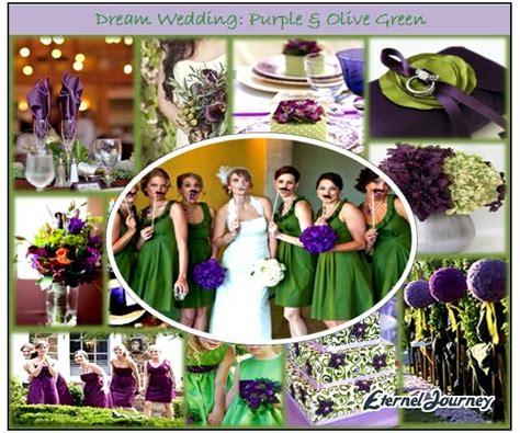 autumn wedding theme design purple olive green