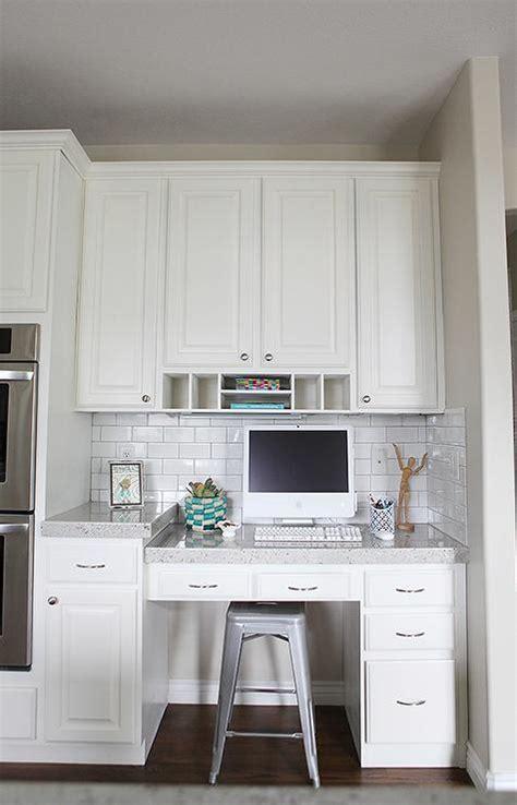 Small Built In Desk Desk In Kitchen Transitional Kitchen Bek Design
