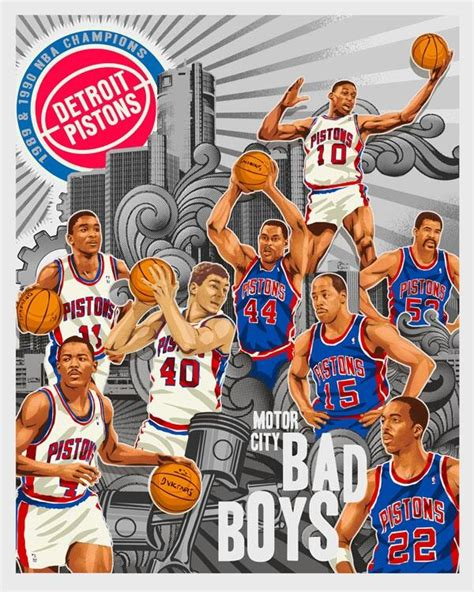 Nba Detroit Pistons Kaos Sport Original Gildan detroit bad boys on quot googling for the classic mahorn laimbeer poster led me to this