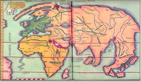 map   world  ptolemy    ad
