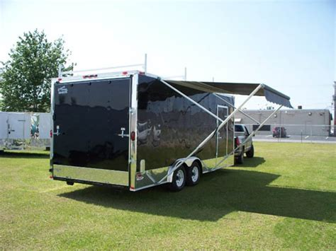 awning for enclosed trailer elite 20 foot enclosed trailer with awning 439