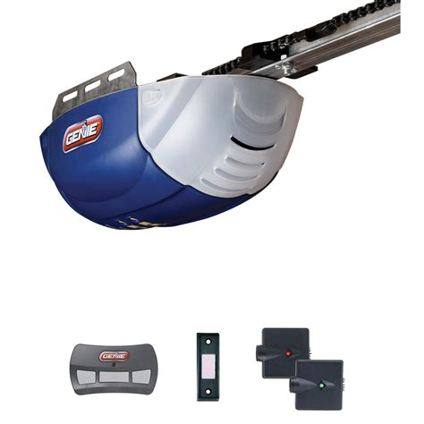New Genie Garage Door Opener Shop Genie 1 2 Hp Chain Garage Door Opener At Lowes