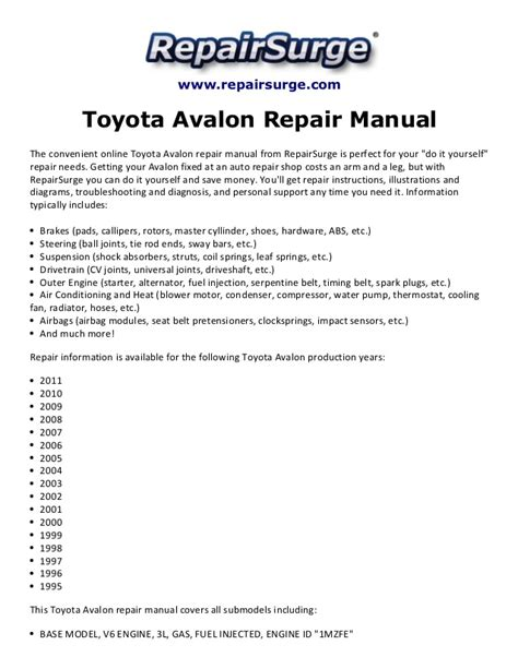 1995 toyota avalon belt diagram wiring diagrams wiring