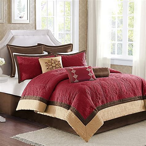 buy madison park juliana 9 piece comforter set in red from