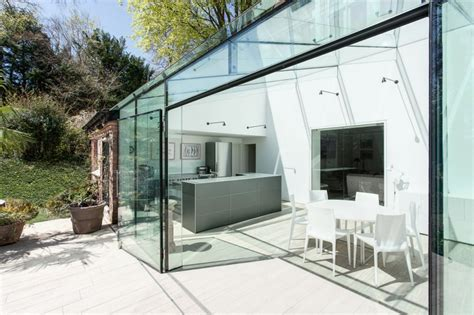 modern glass house design old house gets an all glass extension modern house designs