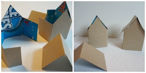 Folded Paper House - paper house ornament template 20 days of kid made ornaments