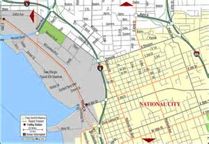 road map of national city san diego california