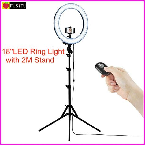 fusitu 18 quot outdoor dimmable photo led ring light kit