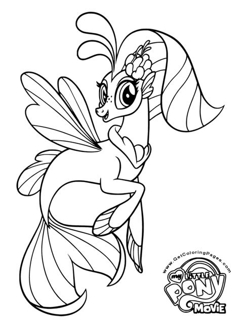 Sea Pony Coloring Pages | printable my little pony the movie 2017 coloring pages