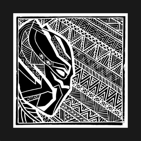 Black Jaguar Pattern | black panther lino pattern black panther mug teepublic