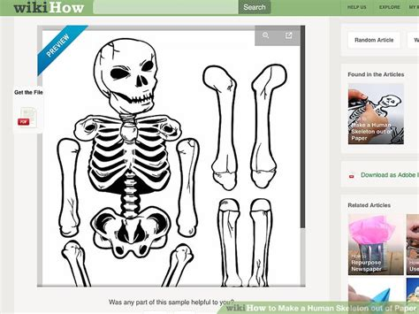 How To Make Skeleton With Paper - how to make a human skeleton out of paper 12 steps
