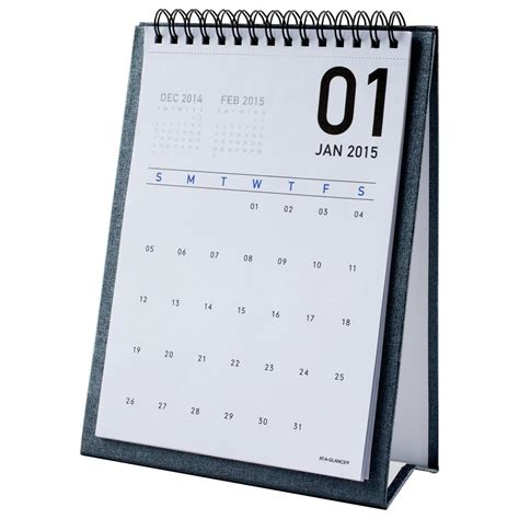 at a glance monthly desktop easel calendar