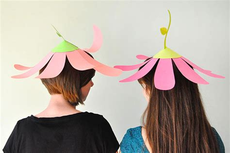 Make Paper Hats - paper flower hats
