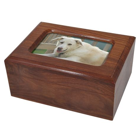 Box Pets memory chest wooden box pet urn with photo window