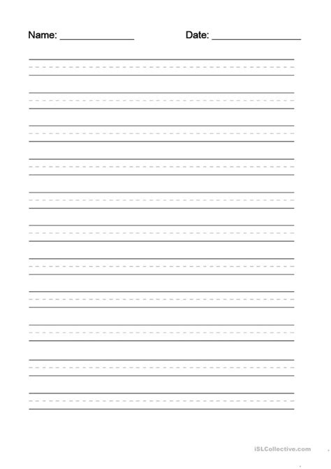 writing dotted line template worksheet free esl