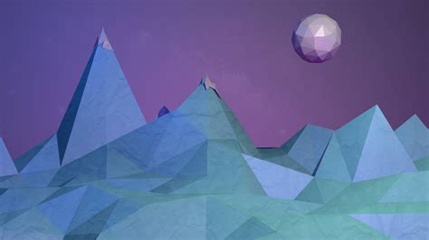 wallpaper mountains abstract   poly symmetry