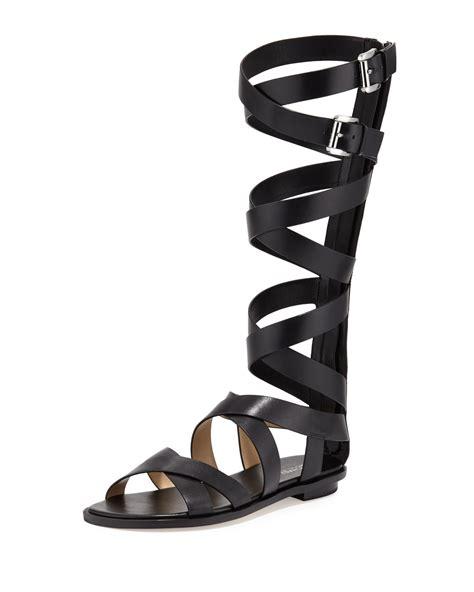 michael kors gladiator sandals michael michael kors darby leather gladiator sandals in