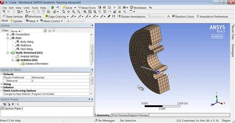 ansys section view simcafe crank in ansys section planes youtube
