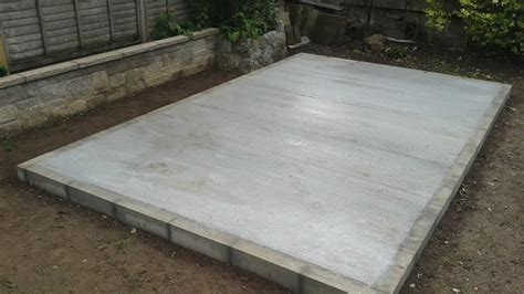 build  concrete shed base  diy guide  laying  garden shed base diy doctor