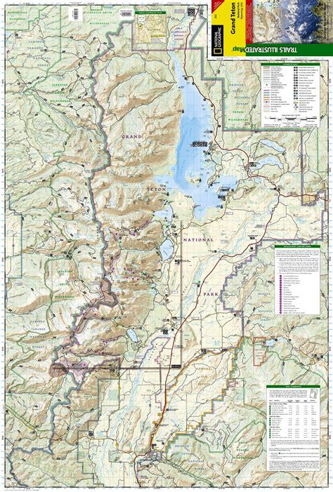 grand teton trail map wandelkaart 202 trails illustrated grand teton national