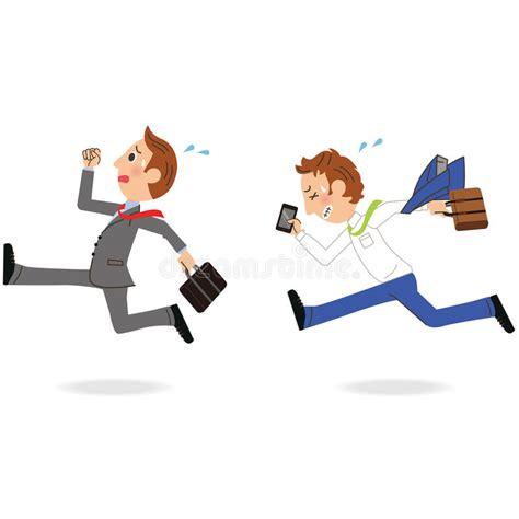 employe de bureau employ 233 de bureau qui court illustration de vecteur