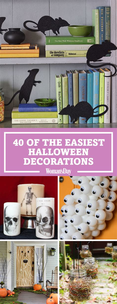 how to make easy halloween decorations at home 50 easy halloween decorations spooky home decor ideas