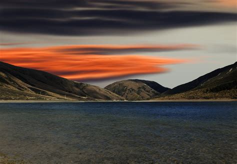 sunset   lake hd wallpaper background image