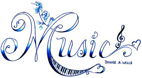 quot music quot tattoo design by denise a wells flickr photo
