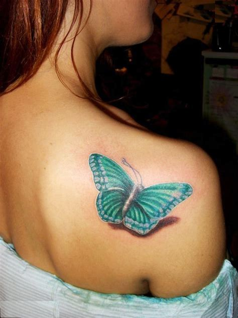 over the shoulder tattoos butterfly shoulder design for