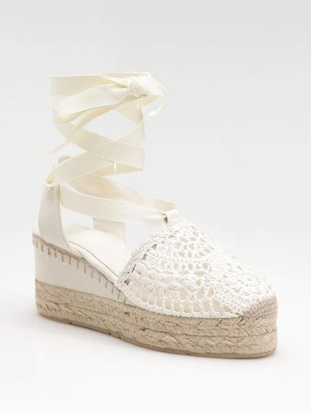 Sepatu Fashion Sneakers Wedges Flowers Shoes s crocheted ankle tie espadrilles ralph