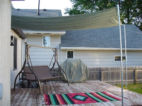 diy backyard shade picture of diy sun shade for your patio or terrace
