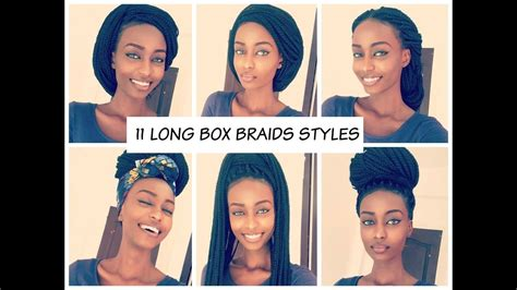 how to style your box braids youtube how to style long box braids 2016 11 unique styles