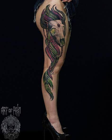 tattoo pain on your side side leg bull skull tattoo best tattoo ideas gallery
