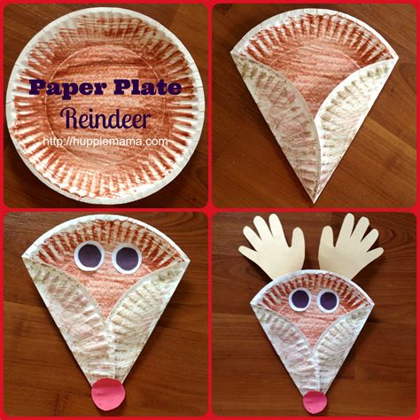 news paper craft craft paper plate reindeer our potluck