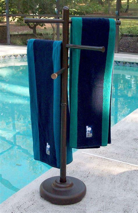 Outdoor spa and pool towel rack outdoor hot tub towel rack