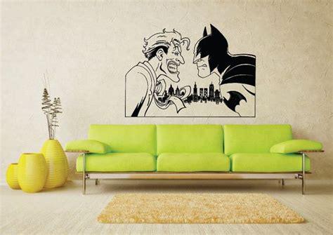 batman living room dc comics batman vs joker comic vinyl wall sticker home decor living room bedroom
