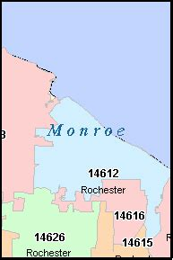 zip code map rochester ny rochester new york ny zip code map downloads
